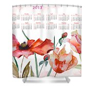 Template For Calendar 2013 Shower Curtain