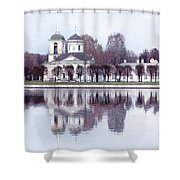 Temple And Bell Tower II Shower Curtain