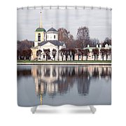 Temple And Bell Tower Shower Curtain
