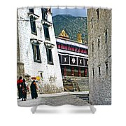Temple Approach Shower Curtain