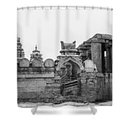 Temple Architecture Shower Curtain