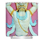 Temple Art In Thailand Shower Curtain