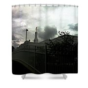Temple Behinde The Gates Shower Curtain