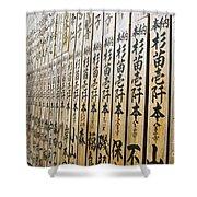 Temple Contributer Plaques Shower Curtain
