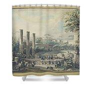 Temple De Serapis Shower Curtain
