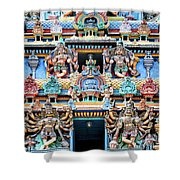 Temple Facade Chennai India Shower Curtain