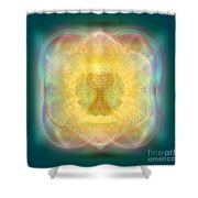 Temple Fire Chalice Shower Curtain