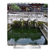 Temple Fountain Shower Curtain