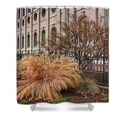 Temple Landscaping Shower Curtain