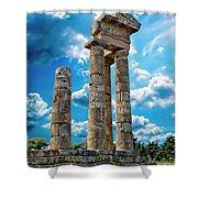 Temple Of Apollon Shower Curtain