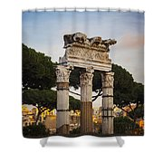 Temple Of Castor And Pollux Shower Curtain