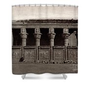 Temple Of Hathor, Early 20th Century Shower Curtain