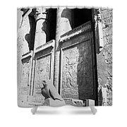 Temple Of Horus Shower Curtain