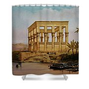 Temple Of Isis On The Nile River Shower Curtain