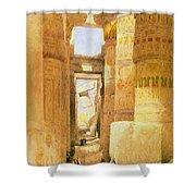 Temple Of Karnak  Shower Curtain