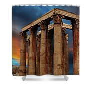 Temple Of Olympian Zeus Shower Curtain