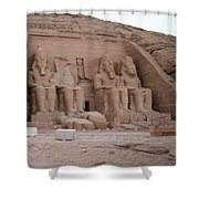 Temple Of Rameses II Shower Curtain