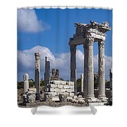 Temple Of Trajan View  Shower Curtain