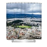 Temple Of Zeus - View From The Acropolis Shower Curtain