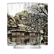Temple On The Lake Shower Curtain