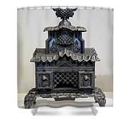 Temple Parlor Stove Shower Curtain