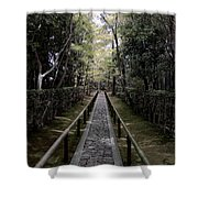 Temple Path - Kyoto Japan Shower Curtain