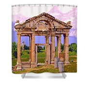 Temple Ruins At Ephesus Shower Curtain