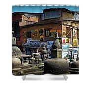 Temple Shop Shower Curtain