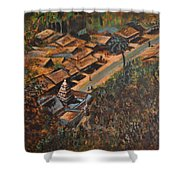 Temple Town Shower Curtain