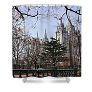 Temple View Shower Curtain