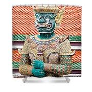 Temple Warrior Shower Curtain