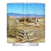 Temples In Monte Alban Shower Curtain