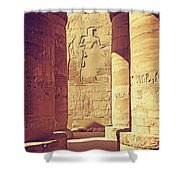 Temples Of Karnak  Shower Curtain