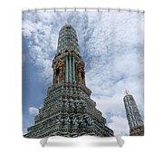 Temples, Thailand Shower Curtain