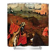 Temptation Of Saint Anthony, Right Wing Shower Curtain