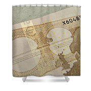 Ten Euro Note Shower Curtain