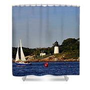 Ten Pound Light Shower Curtain