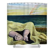 Ten Precious Toes Shower Curtain