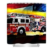Ten Truck Fdny Shower Curtain