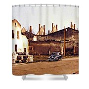 Ten Years After The Bombs 1955 Shower Curtain