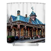 Tenafly Railroad Station Shower Curtain