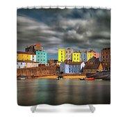 Tenby Harbour Pembrokeshire Shower Curtain
