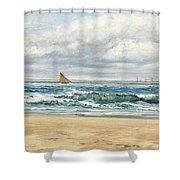Tenby Shower Curtain by John Brett