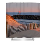 Tender Beach Light Shower Curtain