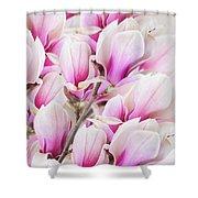 Tender Magnolia Flowers Shower Curtain