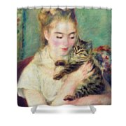 Tenderness Of A Woman Shower Curtain