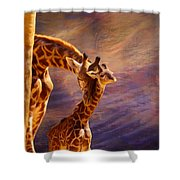 Tenderness Painted Shower Curtain