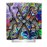 Tendril Tango Shower Curtain