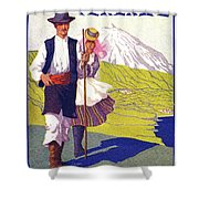 Tenerife, Canary Islands, Couple In Traditional Costumes Shower Curtain