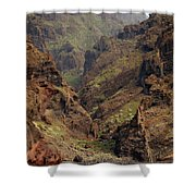 Tenerife Coastline Shower Curtain